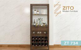 Tủ rượu gỗ ZT 734 đẹp hiện đại và chất lượng