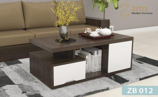 Thiết kế bàn trà gỗ sồi tự nhiên hiện đại