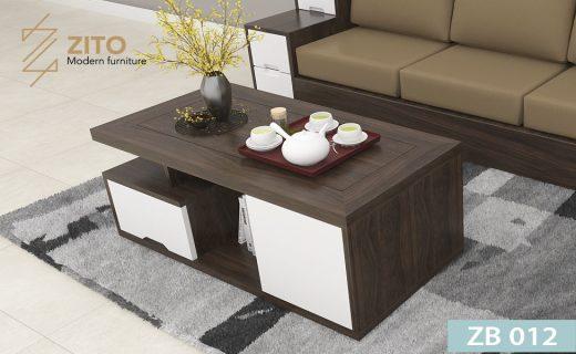 Bàn trà sofa đẹp bằng gỗ sồi tự nhiên