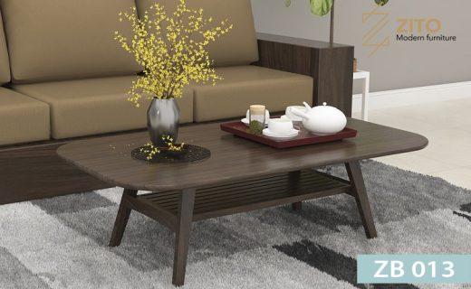 Bàn trà gỗ sồi ZB 013 chất lượng