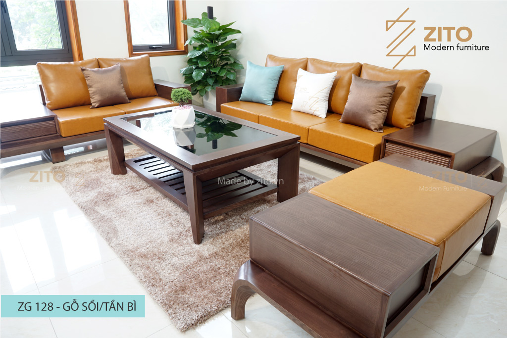 Ưu điểm sofa  gỗ Sồi thiết kế kiểu dáng chữ U