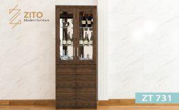 tủ rượu gỗ sồi đơn giản đẹp