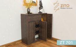 Thiết kế tủ giầy gỗ tự nhiên