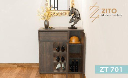 Tủ giầy gỗ ZT 701 đẹp, hiện đại