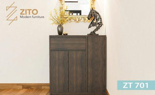 Chất liệu tủ giầy bằng gỗ sồi bền và chắc chắn