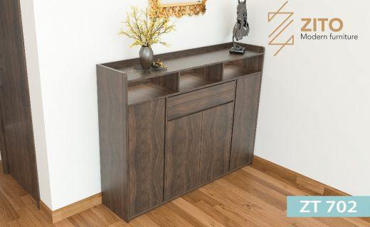 Tủ giầy đẹp 4 cánh bằng gỗ sồi