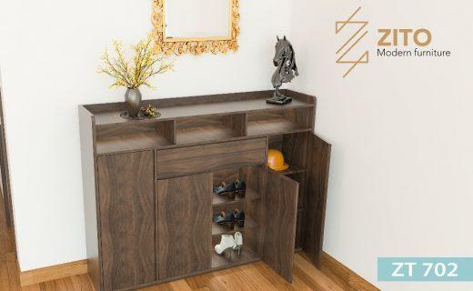 Thiết kế tủ giầy thông minh gồm nhiều ngăn tiện dụng