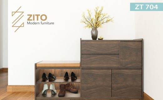 Tủ giầy gỗ ZT 704 hiện đại đa công năng
