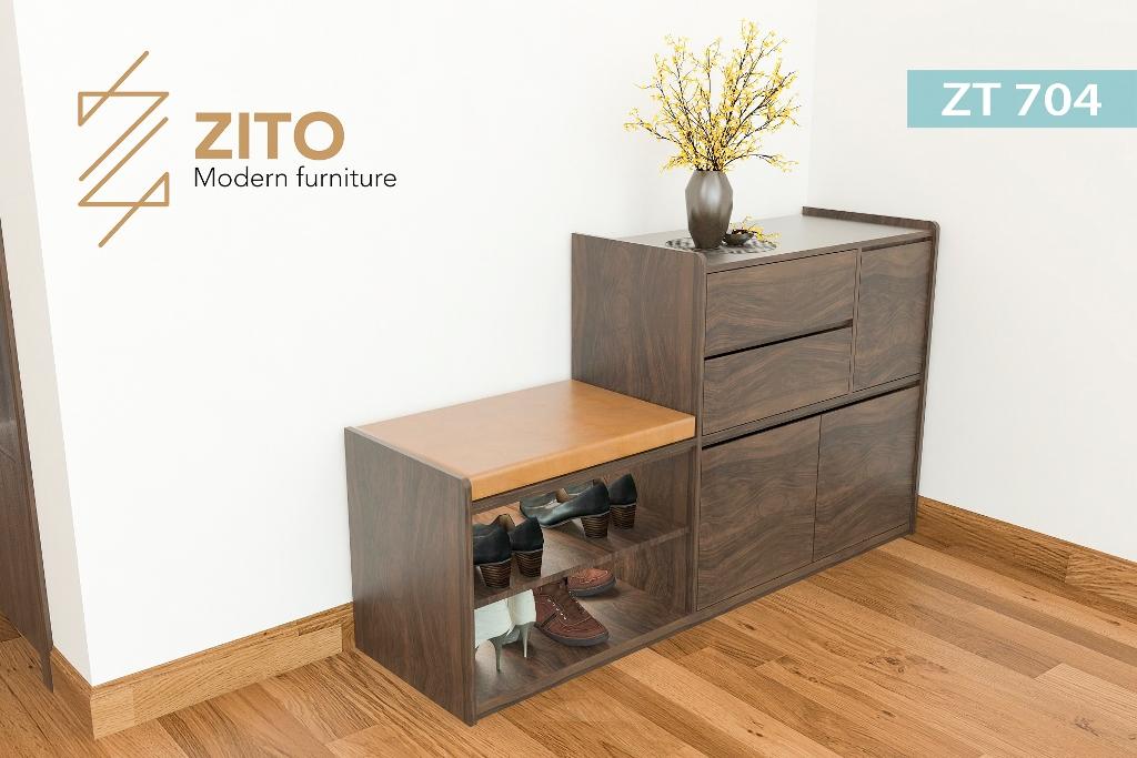 Chất liệu tủ giầy kiểu mới bằng gỗ sồi tự nhiên