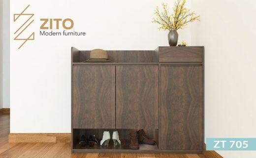 Tủ giầy gỗ ZT 705 kiểu dáng hiện đại, nhiều ngăn