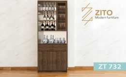 Tủ rượu gỗ ZT 732 cho phòng khách đẹp hình chữ nhật