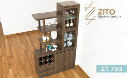 Kiểu dáng tủ rượu gỗ ZT 733 hiện đại
