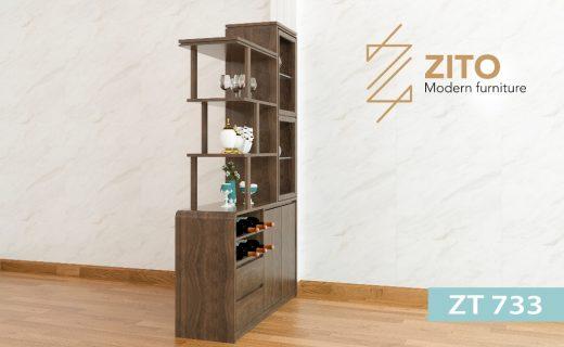 Chất liệ tủ rượu gỗ ZT 733 cho phòng khách bằng gỗ tự nhiên