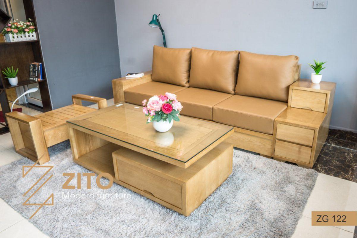 chọn bàn ghế sofa gỗ cho phòng khách nhỏ tại zito