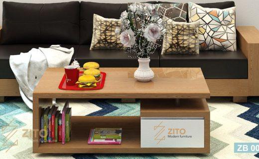 Bàn trà gỗ phòng khách ZB001 hiện đại