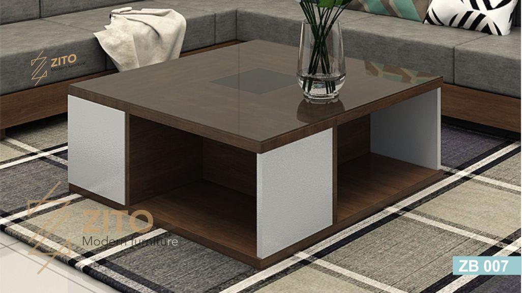Mẫu bàn trà gỗ sồi ZB 007 thiết kế kiểu mới
