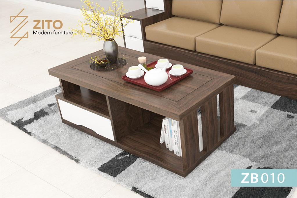 Bàn trà gỗ ZB 010 thiết kế bàn trà gỗ sofa đẹp hiện đại