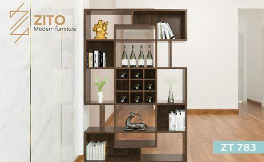 mẫu kệ trang trí phòng khách bằng gỗ đẹp