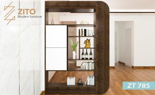cách trang trí kệ gỗ đẹp cho phòng khách