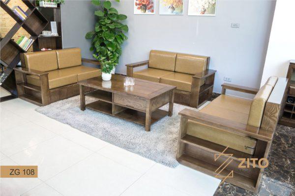 Các mẫu sofa gỗ  chữ U hiện đại cho phòng khách