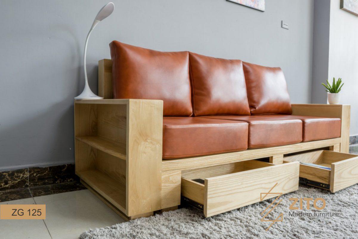sofa văng zg 125 có ngăn hộc