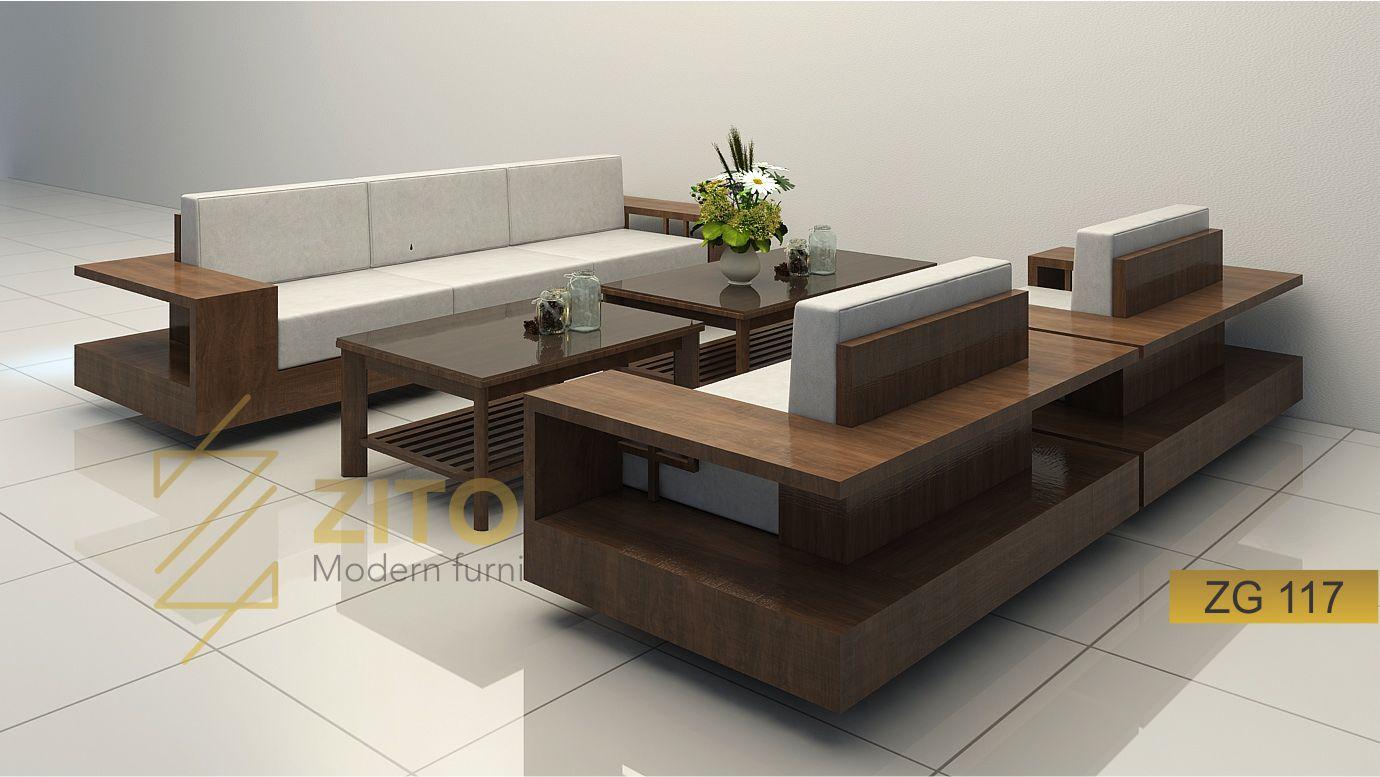 Bộ sofa chữ U hiện đại , sang trọng ZG 117