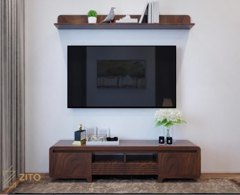 mẫu kệ tivi gỗ đẹp