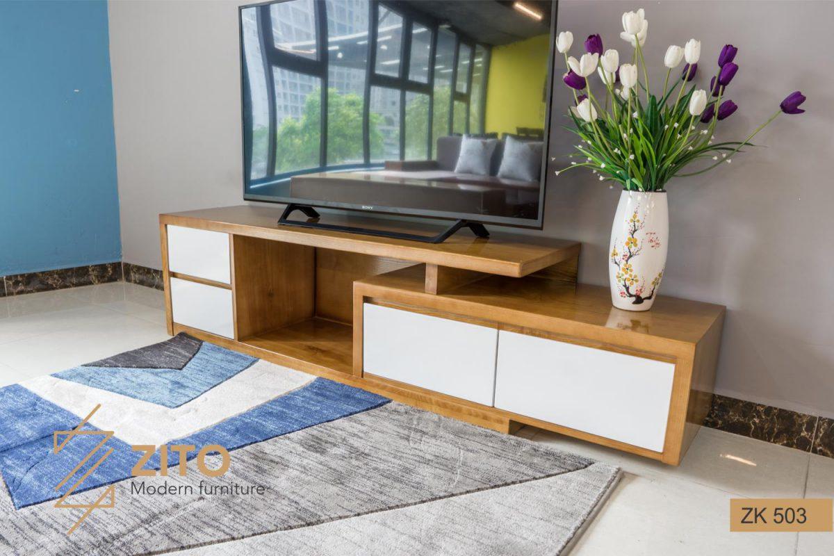Mẫu kệ tivi gỗ đẹp ZITO giá bao nhiêu