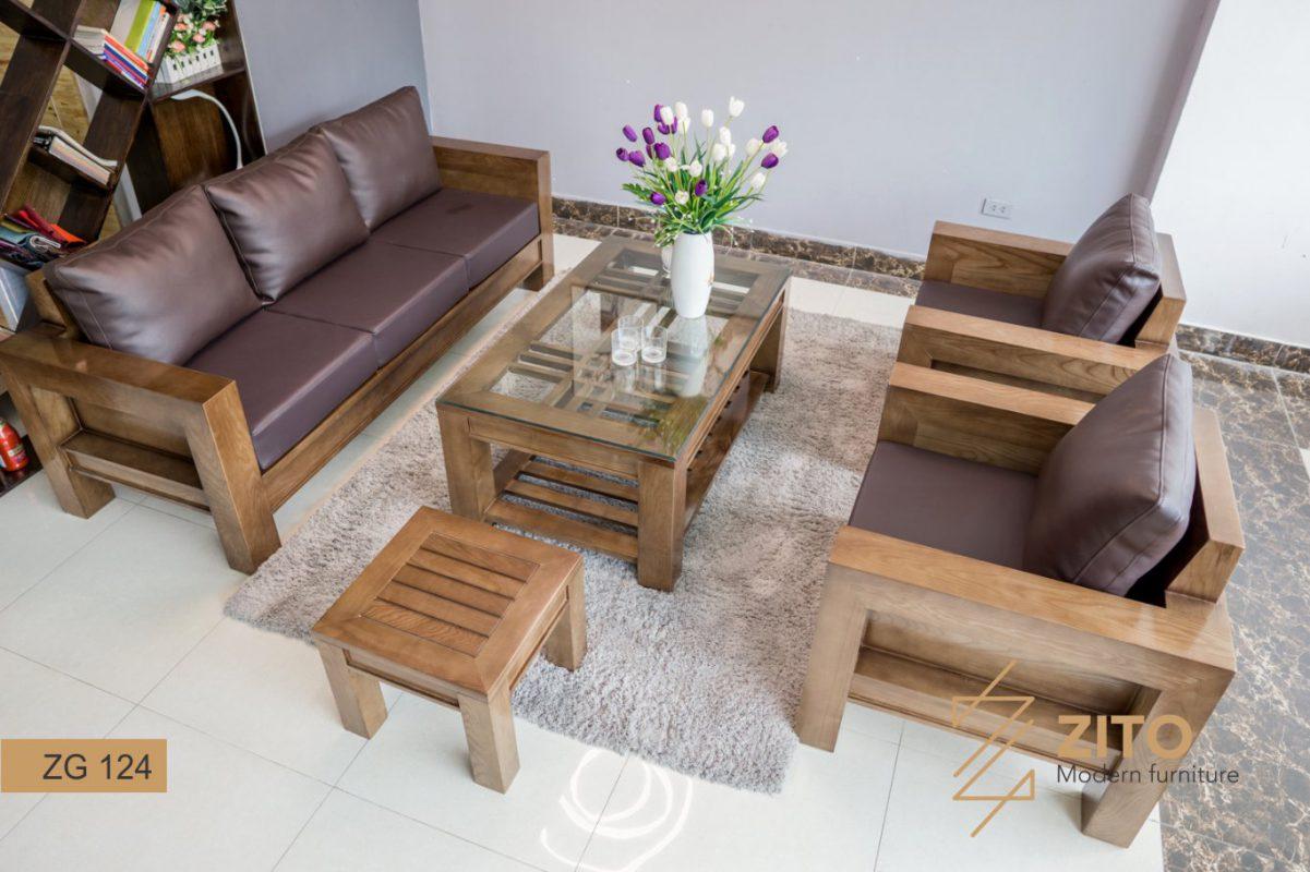 Sofa gỗ phòng khách ZG 124