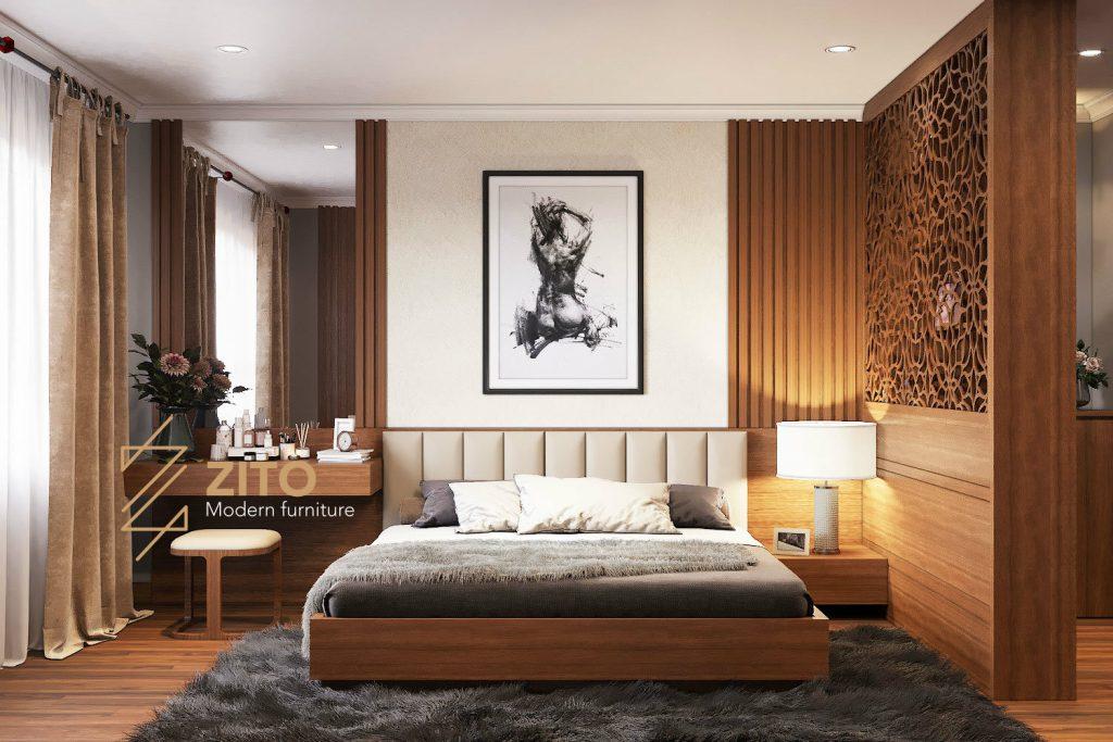 Zito Thiết kế thi công nội thất căn hộ GoldMark city - phòng ngủ master