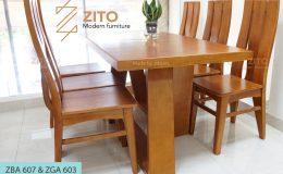 Bộ bàn ghế ăn ZBA 607 & ZGA 603, ZBA 607 & ZGA 603