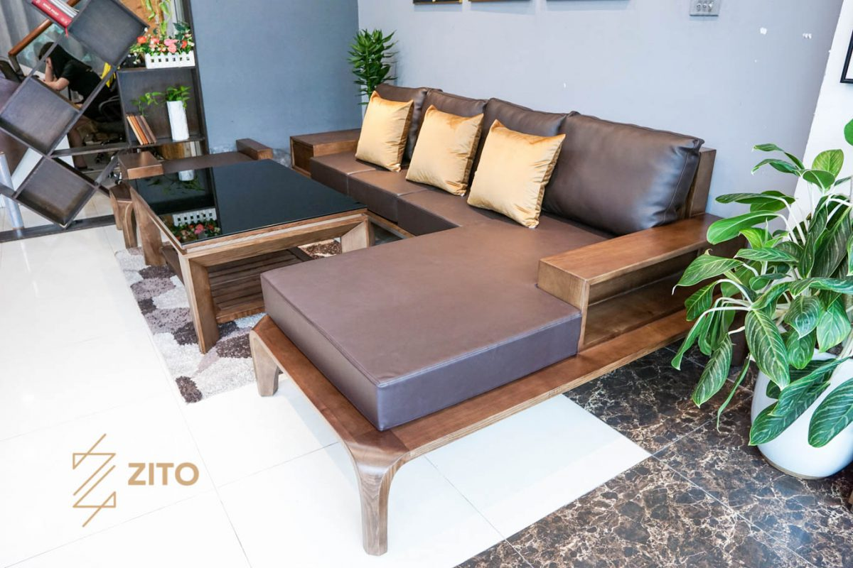 Chất liệu đệm da cho sofa gỗ