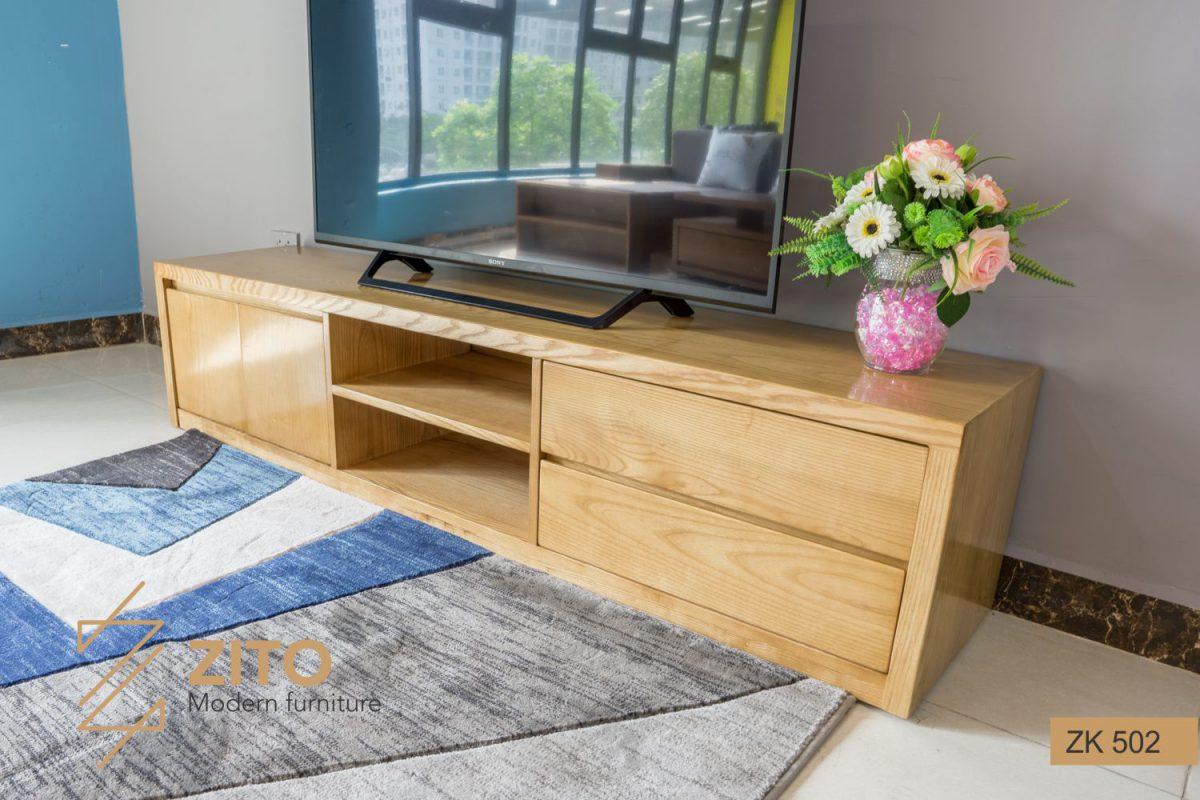 Kiểu dáng kệ tivi gỗ tự nhiên phù hợp với mọi không gian