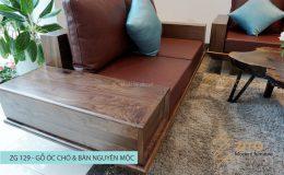 Sofa gỗ chữ U ZG 129, ZG 129, sofa gỗ ZG 129