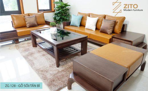 Sofa gỗ chữ U ZG 128, ZG 128, sofa gỗ ZG 128