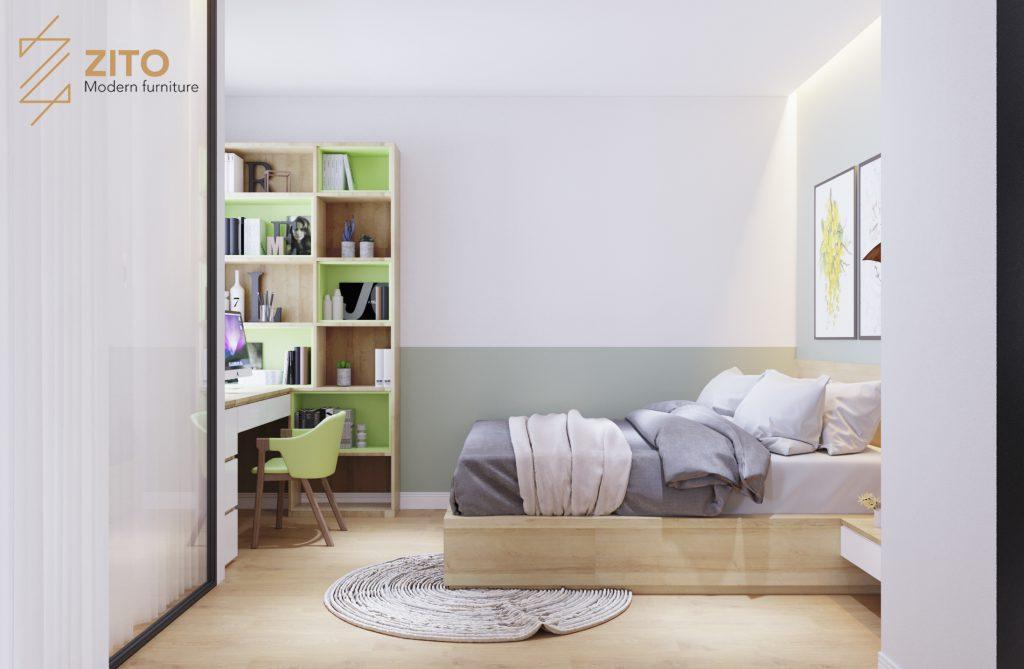 Thi công full nội thất căn hộ 48m2 tại dự án Green Bay Mễ Trì