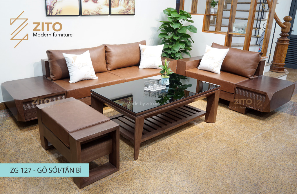 kiểu dáng sofa gỗ sồi Nga và sofa gỗ sồi Mỹ