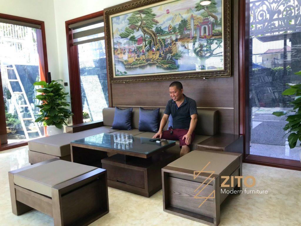Hình ảnh Thực Tế Bộ Sofa Zg 101 Tại Nhà Anh Hoài 4