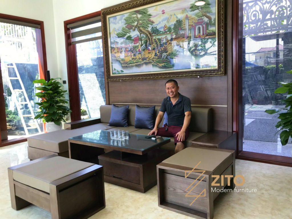 Hình ảnh Thực Tế Bộ Sofa Zg 101 Tại Nhà Anh Hoài 5