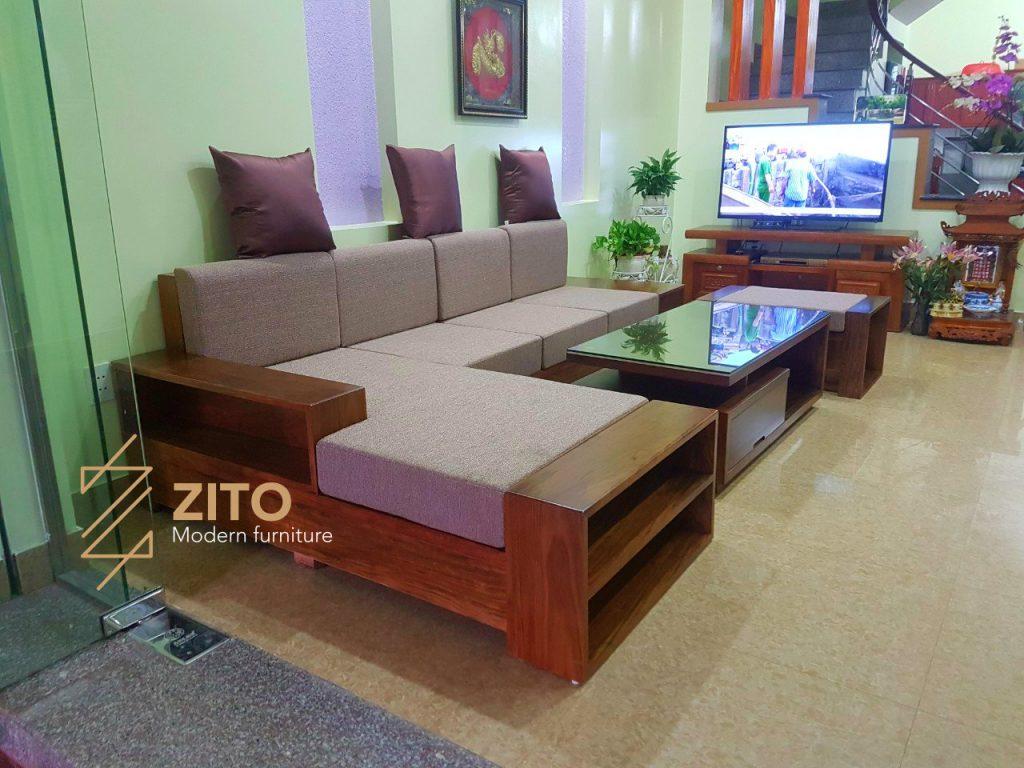 Chiêm ngưỡng hình ảnh thực tế bộ sofa ZG 106 tại nhà chị Vân Anh