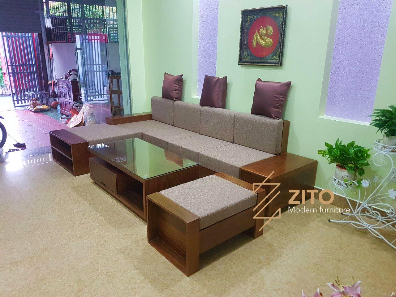 Chiêm ngưỡng hình ảnh thực bộ sofa ZG 106 tại nhà chị Vân Anh