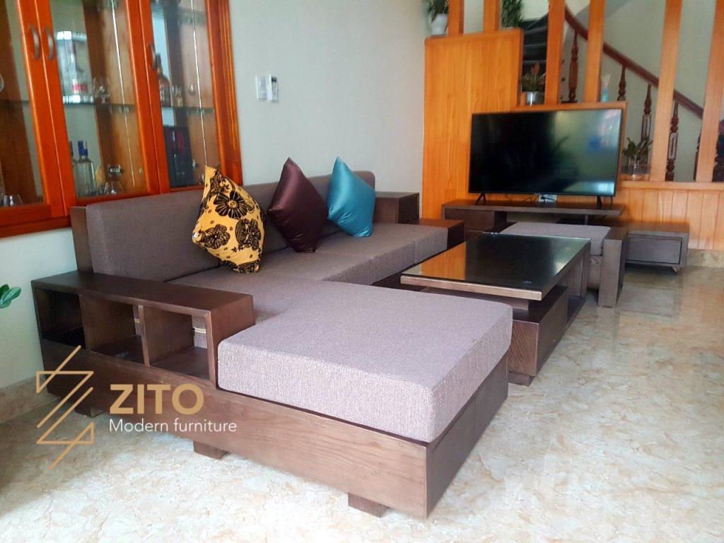 Chiêm ngưỡng hình ảnh thực tế bộ sofa ZG 105 tại nhà anh Cường - Hải Phòng