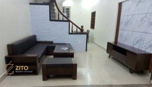 Chiêm ngưỡng hình ảnh thực tế bộ sofa ZG 112 tại nhà anh Trung - Hải Phòng