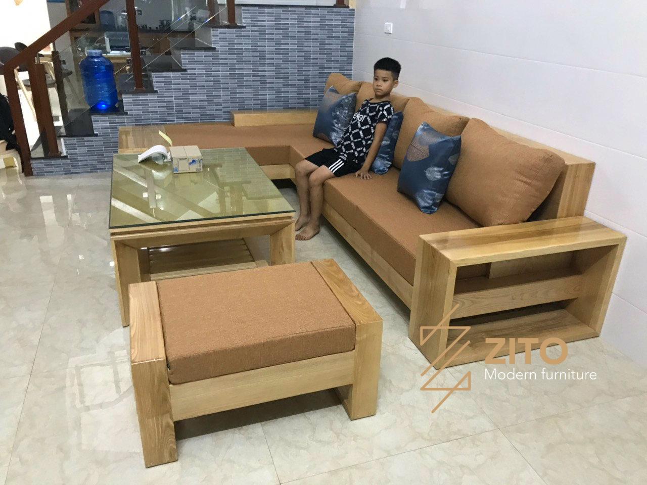 Hình ảnh thực tế bộ sofa ZG 118 tại nhà khách của Nội Thất ZITO