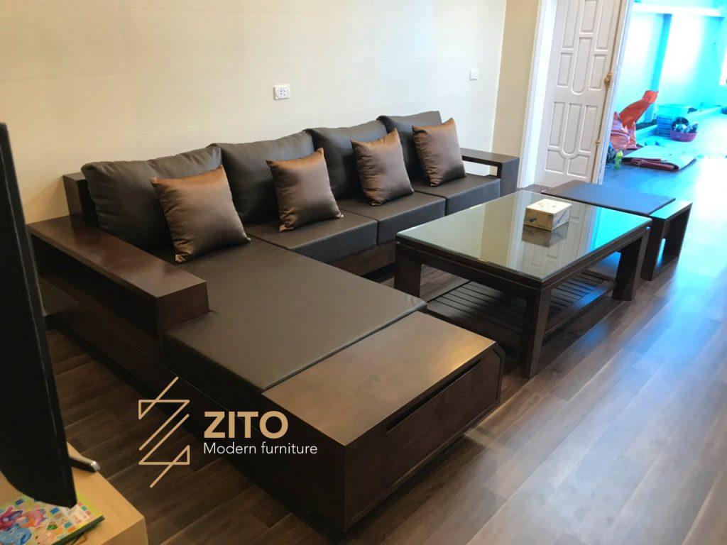 Ảnh bàn giao bộ sofa ZG 118 tại nhà chị Hương - Nghệ An