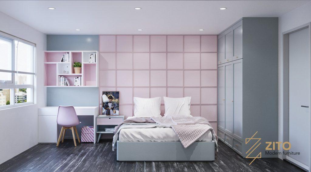 Thiết kế thi công nội thất căn hộ E2-12 - Dự án The Emerald
