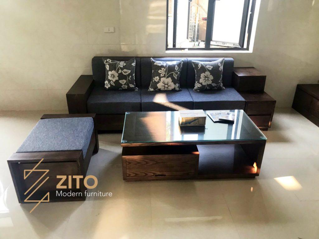 Hình ảnh thực tế bộ sofa ZG 122 tại nhà khách của Nội Thất ZITO