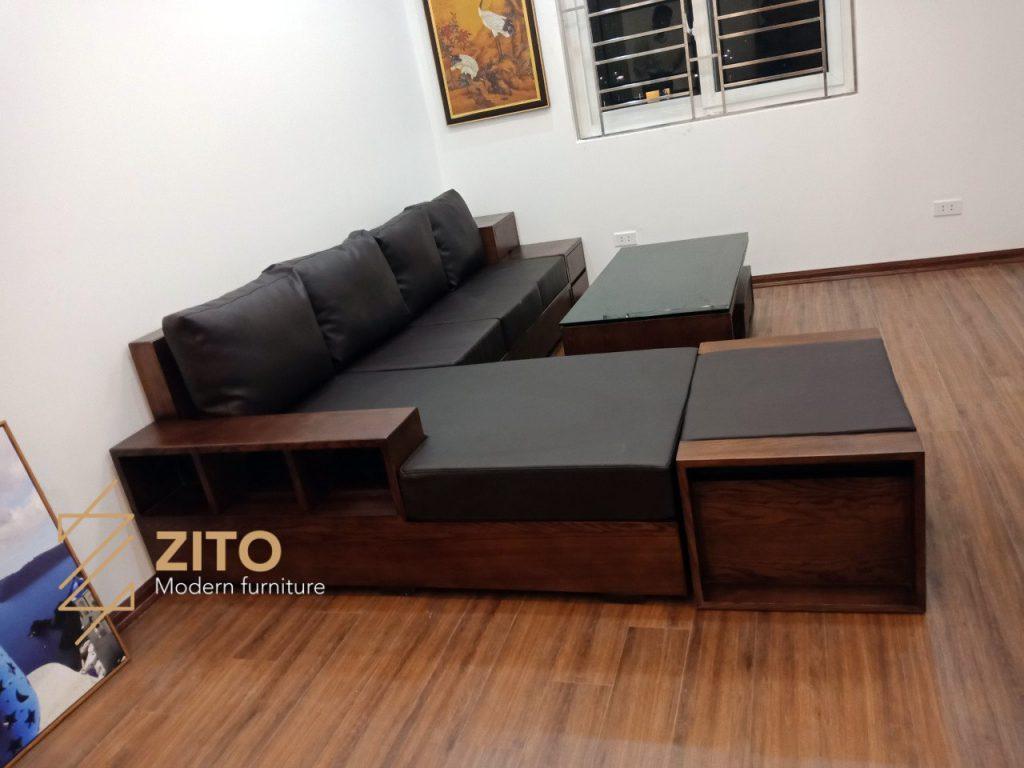 Hình ảnh bàn giao bộ sofa ZG 105 tại nhà chị Thúy - Hà Nội