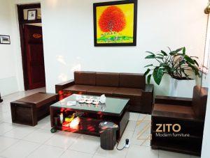 Chiêm ngưỡng hình ảnh thực tế sofa ZG 103 tại nhà anh Tuấn – Hà Nội