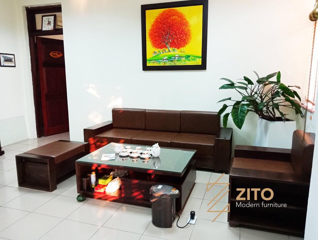 Chiêm ngưỡng hình ảnh thực thế sofa ZG 103 tại nhà anh Tuấn - Hà Nội